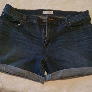 Blue jean shorts LOFT